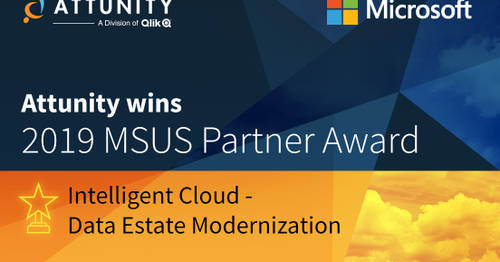 Attunity Wins 2019 Microsoft US Partner Award for Intelligent Cloud - Data Estate Modernization