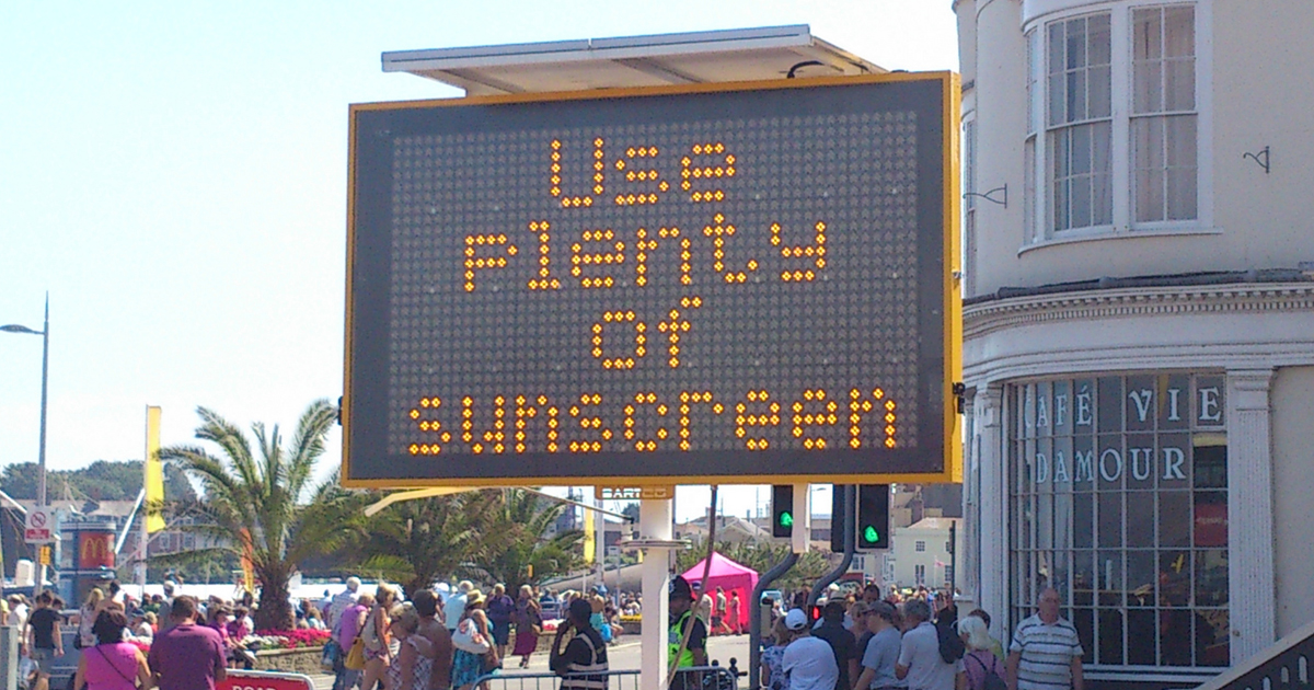 Don't Forget the Sunscreen